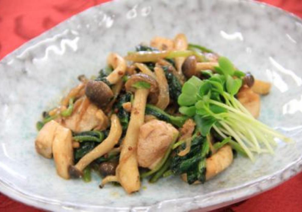 鶏肉と野菜のマスタード炒め